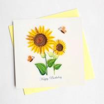 Quilling Card Sunflower Birthday bd130