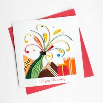 Quilling Card Pop it Birthday bd137
