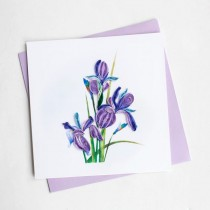 Quilling Card Iris bl981