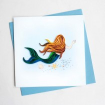 Quilling Card Mermaid BL995