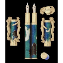 David Oscarson Carl Milles Marriage of the Waters Teal Fountain Pen