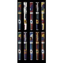 David Oscarson American Art Deco Teal Fountain Pen
