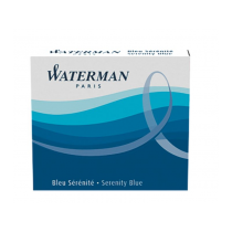 Waterman Serenity Blue large size standard cartridges