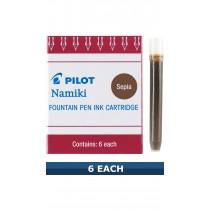 Pilot Namki Sepia Brown Ink Cartridges