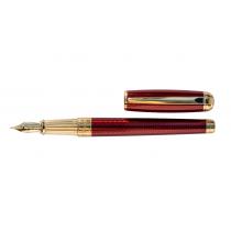 S.T. Dupont Line D Diamond Guilloche Ruby Fountain Pen