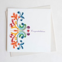 Quilling Card Rainbow Congratulations LV220