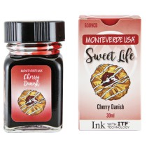 Monteverde Sweet Life Bottled Ink 30mL Cherry Danish