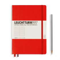Leuchtturm 1917 A5 Hardcover Journal Ruled Red
