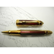 Michel Perchin Ribbed Red gold roller ball
