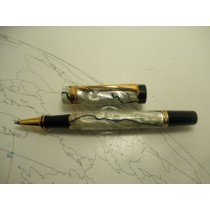 Parker Duofold Pearl And Black Rollerball