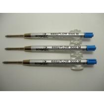 Schmidt EasyFlow 9000 Blue Medium Ballpoint Refill 3 Pack