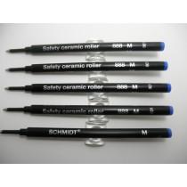 Schmidt 888 Ceramic Roller Ball Refill 5 Pack Blue