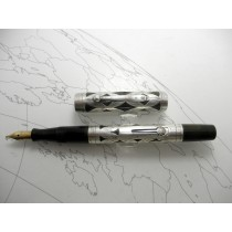 Waterman 452 Sterling Silver Overlay Fountain Pen