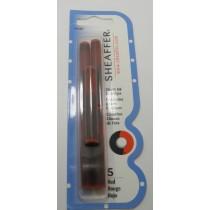 Sheaffer Fountain Pen Ink Cartridges Red