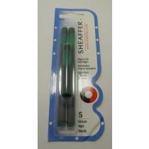 Sheaffer Fountain Pen Ink Cartridges Green
