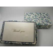 Rossi Stationery Thank You Cards Blue