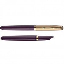 Parker 51 Deluxe Plum Fountain Pen