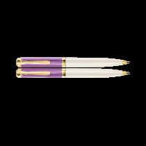 Pelikan Souveran K600 Violet-White Ballpoint Pen