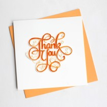 Quilling Card Thank You Ty005