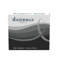 Waterman Black large size standard cartridges